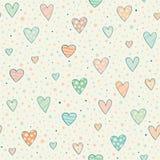 Naadloos patroon met harten Stock Foto's