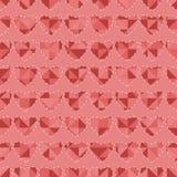 Naadloos patroon met harten Stock Afbeeldingen