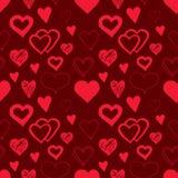 Naadloos patroon met harten Stock Afbeelding