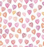 Naadloos patroon met harten De dagachtergrond van Valentine ` s stock illustratie