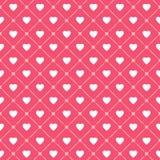 Naadloos patroon met harten en kooien Vector illustratie Stock Afbeeldingen