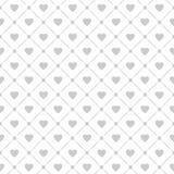 Naadloos patroon met harten en kooien Vector illustratie Stock Foto's