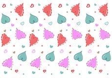 Naadloos patroon met harten Isoleer op witte achtergrond vector illustratie