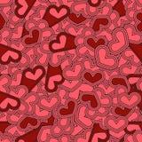 Naadloos patroon met harten St Valentine Dag of Huwelijken DE Stock Foto's