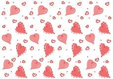 Naadloos patroon met hartenminnaar Isoleer op witte achtergrond stock illustratie