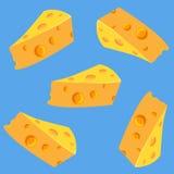 Naadloos patroon met heerlijke kaas Royalty-vrije Stock Afbeeldingen