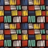 Naadloos patroon met helder abstract patroon Stock Foto's