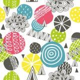 Naadloos patroon met heldere abstracte vormen stock illustratie