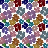 Naadloos patroon met heldere bloemen op een witte achtergrond Stock Fotografie
