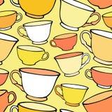 Naadloos patroon met heldere kleurrijke koppen Royalty-vrije Stock Foto's