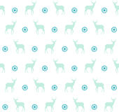 Naadloos patroon met herten en sneeuwvlok voor het ontwerp van de de wintervakantie Stock Afbeelding