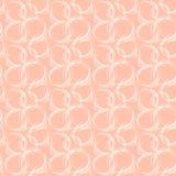 Naadloos patroon met het abstracte ornament van de cirkelkrabbel Stock Foto's