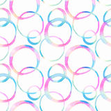 Naadloos patroon met het element van de waterverfcirkel Stock Fotografie