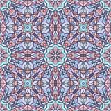 Naadloos patroon met het ornament van het mozaïekkant Stock Afbeelding