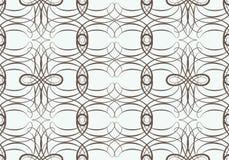 Naadloos patroon met het weven van cirkelnetwerk Stock Foto