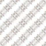 Naadloos patroon met het weven van cirkelnetwerk Stock Afbeeldingen