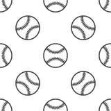 Naadloos patroon met honkbal Stock Afbeelding