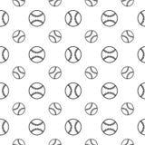 Naadloos patroon met honkbal Stock Foto's