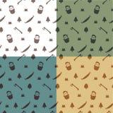 Naadloos patroon met houthakker royalty-vrije illustratie