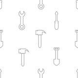Naadloos patroon met hulpmiddelenpictogram Stock Afbeeldingen