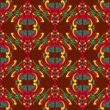 Naadloos patroon met Indische etnische elementen stock illustratie
