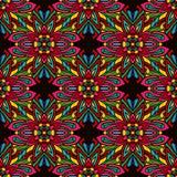 Naadloos patroon met Indische etnische elementen vector illustratie