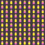 Naadloos patroon met insecten Stock Afbeelding