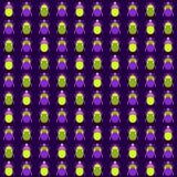 Naadloos patroon met insecten Stock Foto's