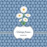 Naadloos patroon met kader en bloemen Royalty-vrije Stock Fotografie