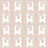 Naadloos patroon met katten Royalty-vrije Stock Foto