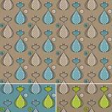 Naadloos patroon met katten, bruin blauw, groen, Royalty-vrije Stock Fotografie