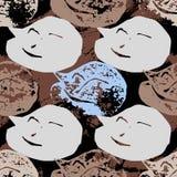 Naadloos patroon met kattenzegels Royalty-vrije Stock Foto