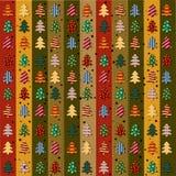 Naadloos patroon met Kerstbomen Stock Foto