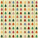 Naadloos patroon met Kerstbomen Royalty-vrije Stock Afbeeldingen
