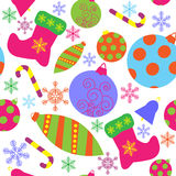 Naadloos patroon met Kerstmisattributen Stock Fotografie