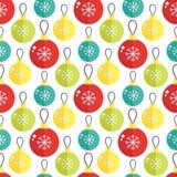 Naadloos patroon met Kerstmisbal Vector illustratie Royalty-vrije Stock Afbeelding