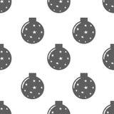 Naadloos patroon met Kerstmisballen Royalty-vrije Stock Afbeeldingen