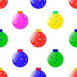 Naadloos patroon met Kerstmisballen Royalty-vrije Stock Foto