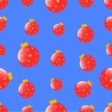 Naadloos patroon met Kerstmisballen Stock Afbeeldingen