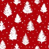 Naadloos patroon met Kerstmisbomen Royalty-vrije Stock Foto