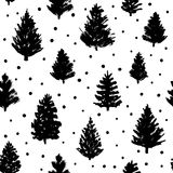 Naadloos patroon met Kerstmisbomen Stock Foto