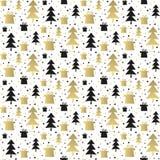 Naadloos patroon met Kerstmisbomen vector illustratie