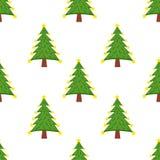 Naadloos patroon met Kerstmisboom Stock Fotografie