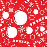 Naadloos patroon met Kerstmisdecoratie stock illustratie