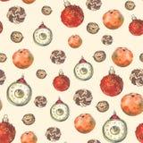 Naadloos patroon met Kerstmisdecoratie vector illustratie
