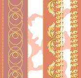 Naadloos patroon met kettingen royalty-vrije illustratie