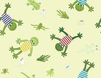 Naadloos patroon met kikkers Stock Fotografie