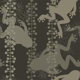 Naadloos patroon met kikkers stock illustratie