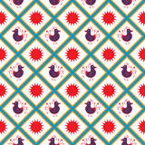 Naadloos patroon met kippen Royalty-vrije Stock Afbeelding