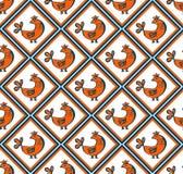 Naadloos patroon met kippen Royalty-vrije Stock Afbeeldingen